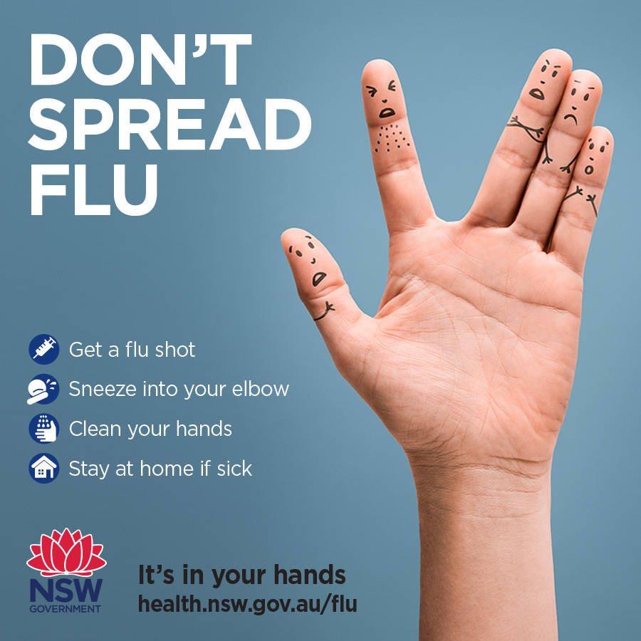 Don't spread flu