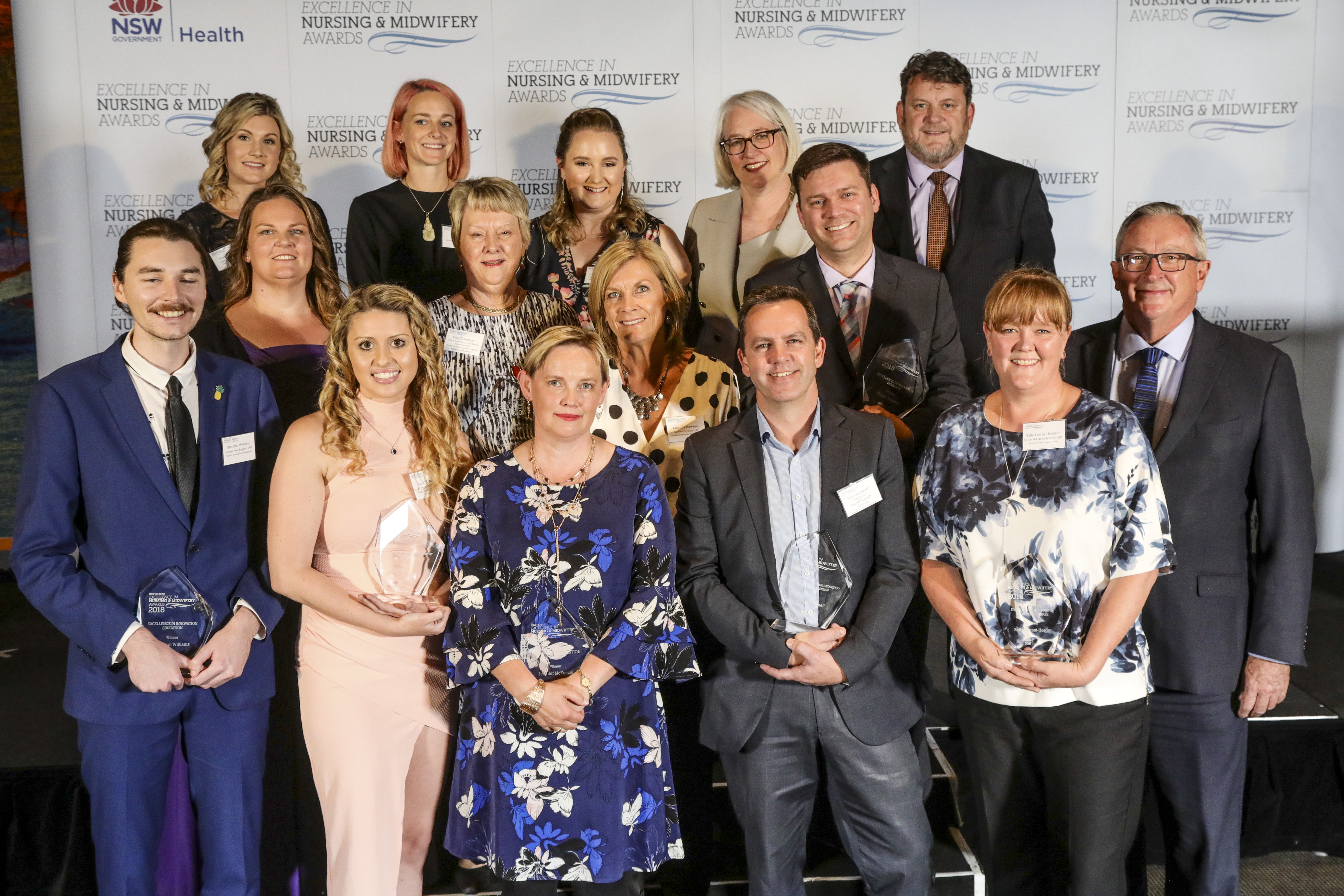 NSW Health Excellence in Nursing and Midwifery Award recipients