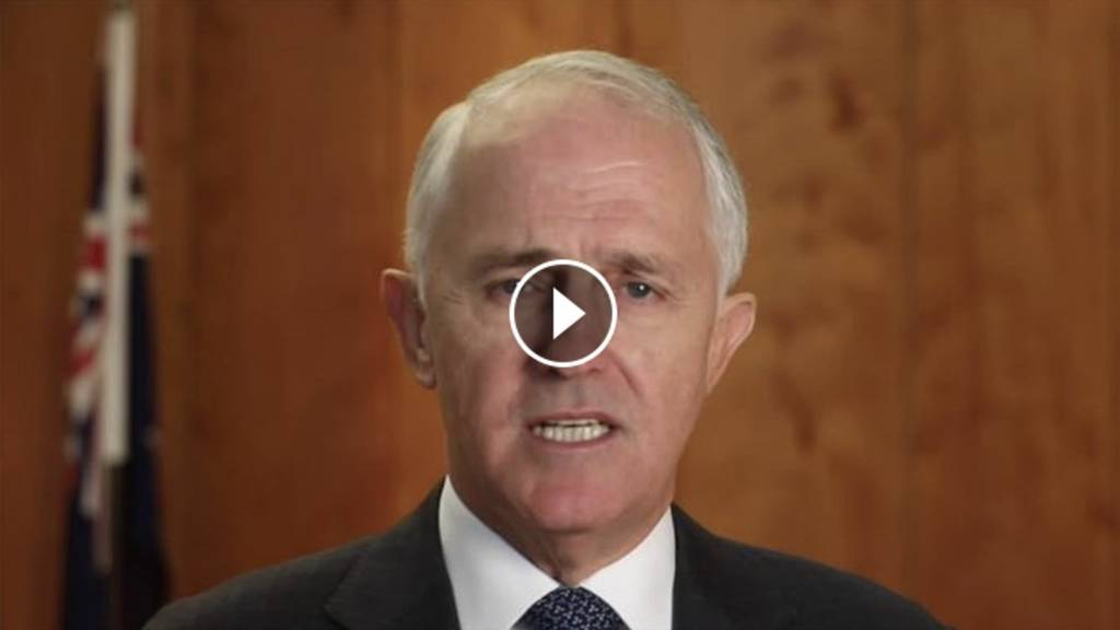 Video of Malcolm Turnbull speaking on the 457 Visas