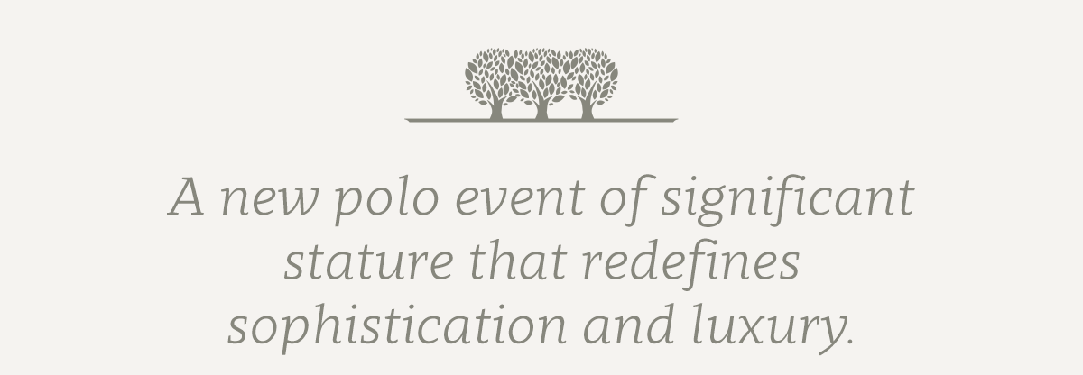 A new polo event that redefines sophistication and luxury.