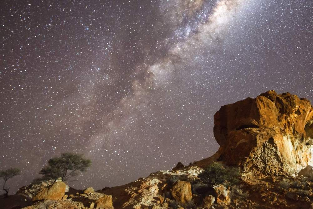 Cue night sky