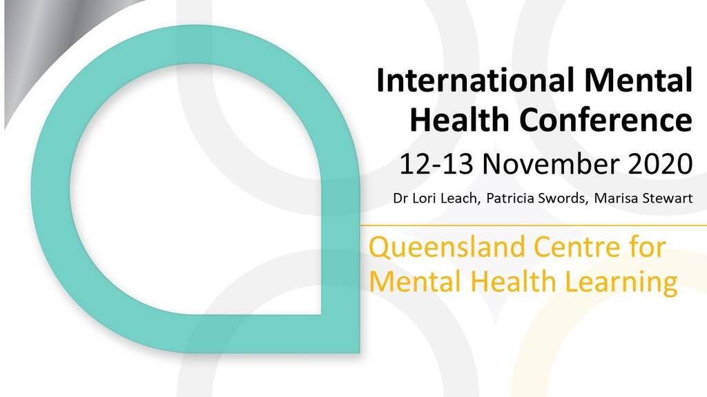 International Mental Health Conference presentation
