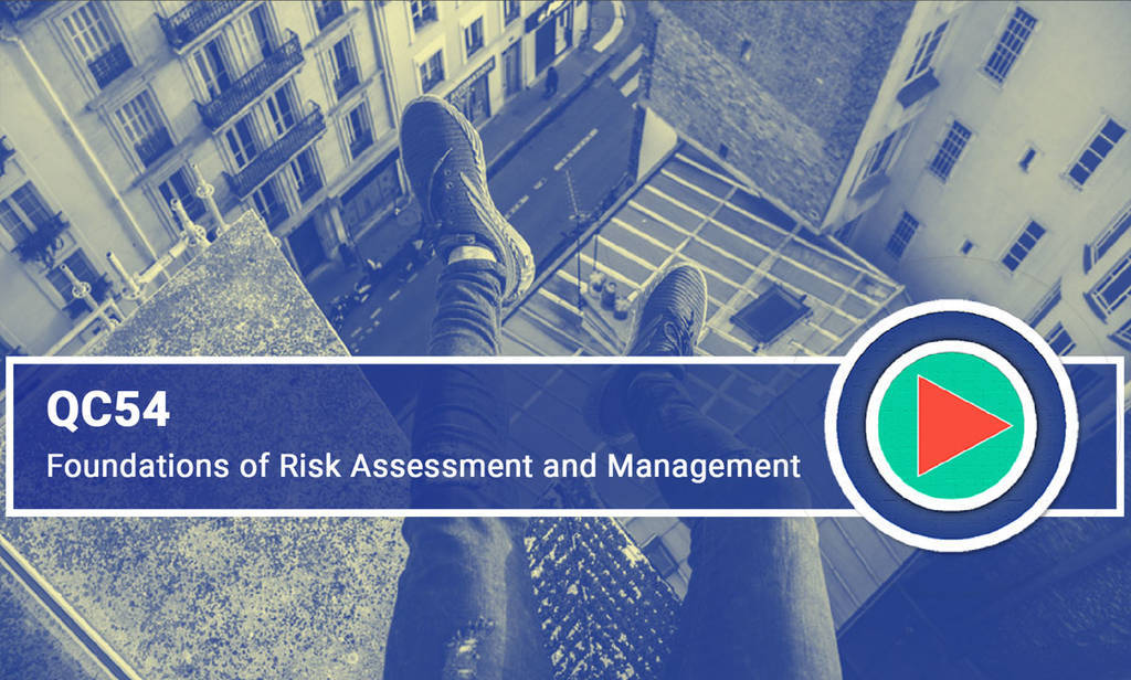 QC54 Foundations of Risk Assessment and Management front page