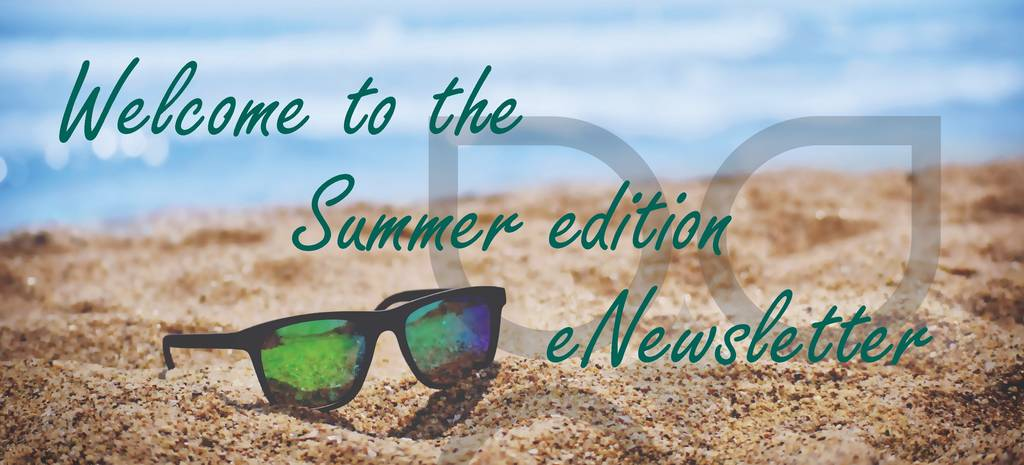 summer edition newsletter beach scene