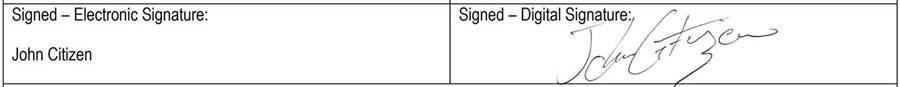 Sample signatures