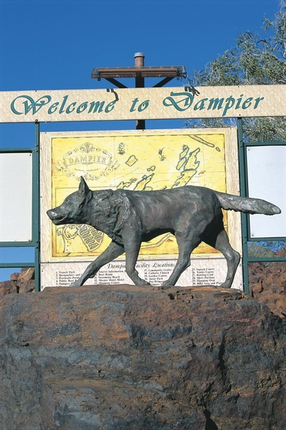 Red Dog Memorial in Dampier